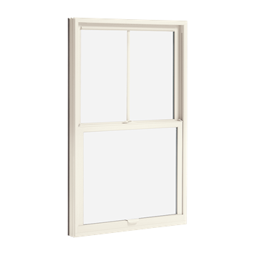 essential double hung interior stone white
