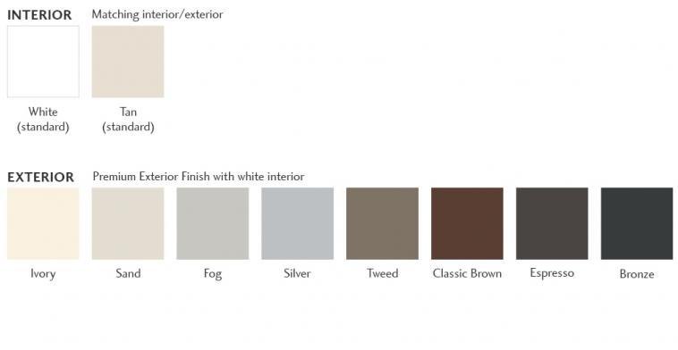 Milgard Vinyl Window Frame Colors